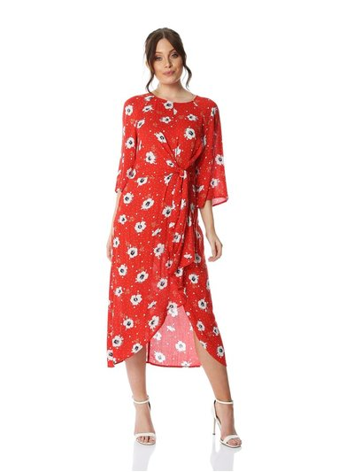 Roman Originals floral knot waist maxi dress