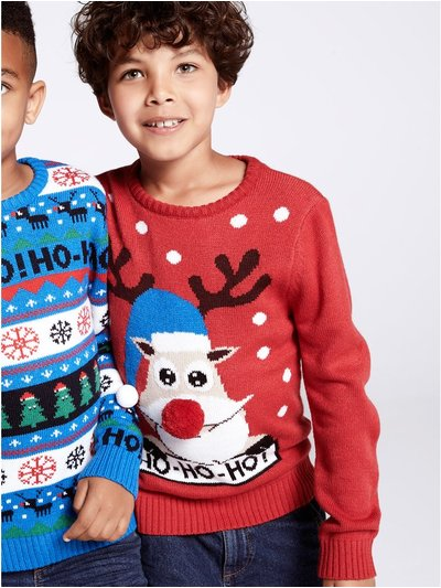 Reindeer Christmas jumper (3 - 12 yrs)