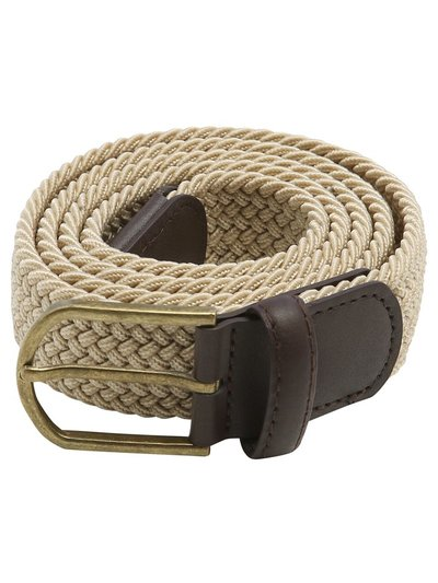 Natural Woven Stretch Belt