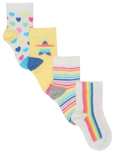 Rainbow socks four pack