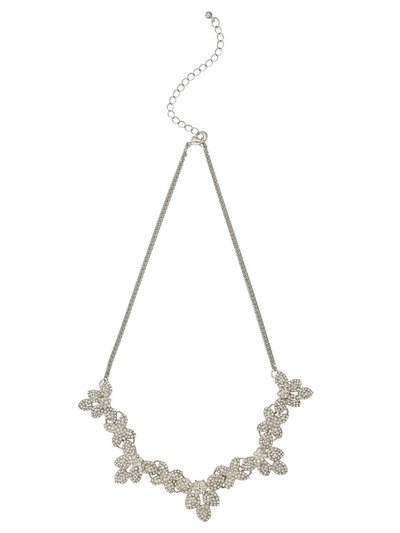 Diamante flower necklace