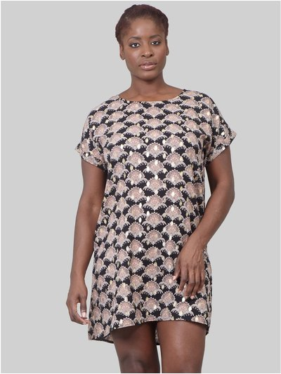Izabel Curve eastern print shift dress