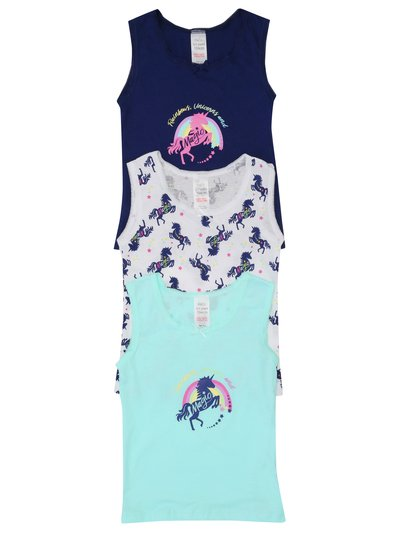 Unicorn vests three pack
