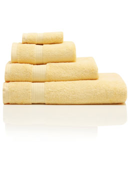 Yellow Combed Cotton Towels