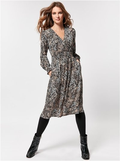 Petite animal print jersey dress