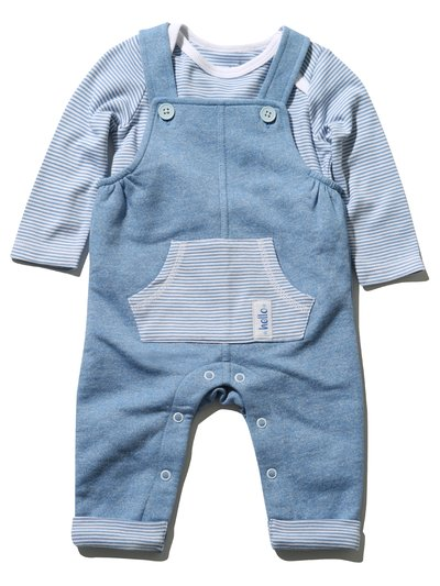 Stripe top and dungaree set (Newborn - 18 mths)