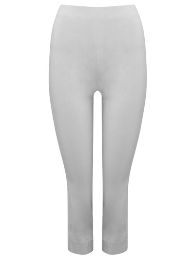 Grey cropped bengaline trousers