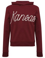 Teen's burgundy slogan hoody
