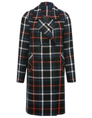 Tailored check coat