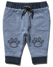 Lion paw embroidered joggers