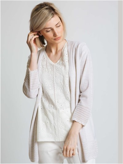 Jessica Graaf lurex cardigan with pointelle