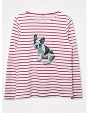 Khost clothing french bulldog striped top