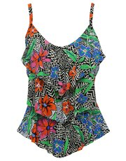 Chevron floral tankini top