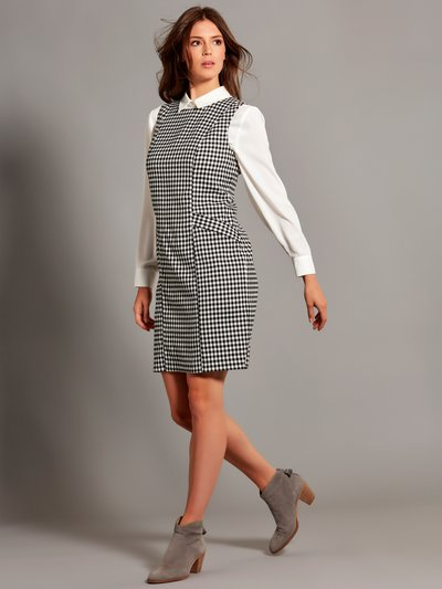 Gingham pinafore shift dress