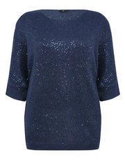 Plus sequin batwing jumper