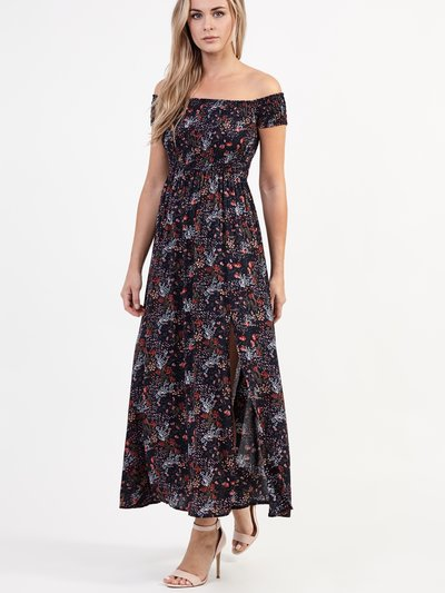 Izabel floral split maxi dress