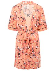 Jersey floral nightdress and robe set