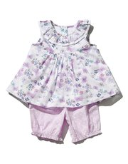 Floral butterfly top and bloomers set (0 mths - 4 yrs)