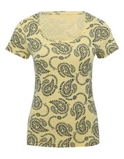 Paisley print scoop neck t-shirt