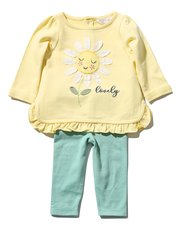 Daisy sweatshirt and leggings set