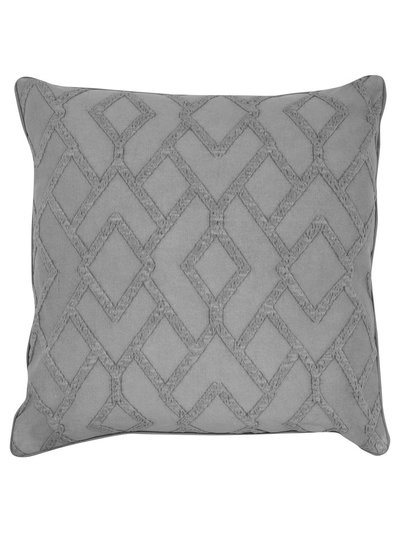 Grey geometric jacquard cushion