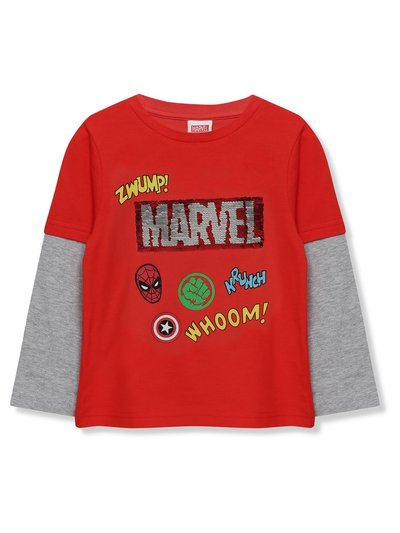 Two way sequin Marvel Avengers top (3 - 10 yrs)