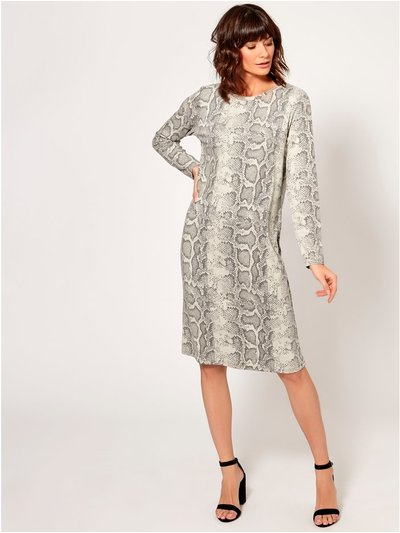 Snake print soft touch dress