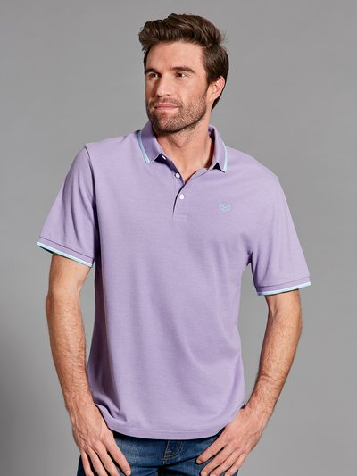 Stripe collar detail polo shirt
