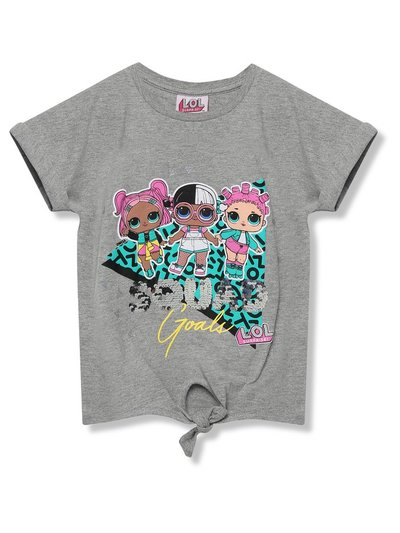 Lol Surprise two way sequin slogan t-shirt (5 - 9 yrs)