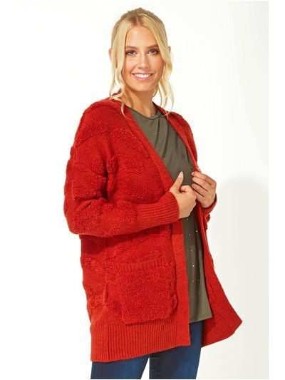 Roman Originals longline textured pocket cardigan
