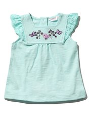 Bird embroidered smock top (0 mths - 4 yrs)