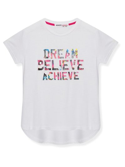 Minoti slogan sports t-shirt (3-12yrs)