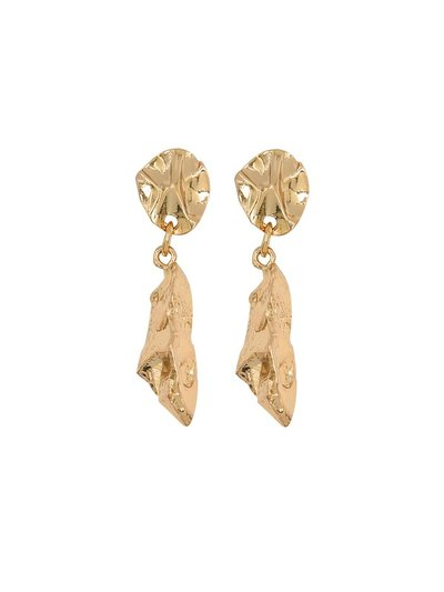 Abstract hammered drop earrings