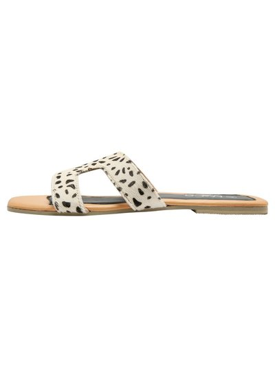Cheetah print slider sandals