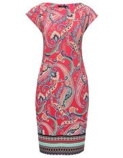 Paisley print border tunic dress