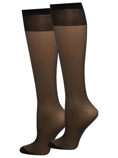 20 Denier Sheer Knee Highs Black