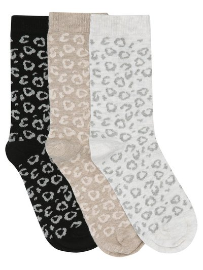 Animal print socks three pair pack