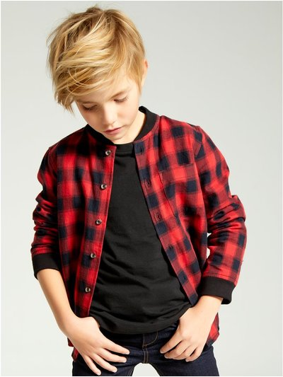 Baseball collar check shirt (3-12yrs)