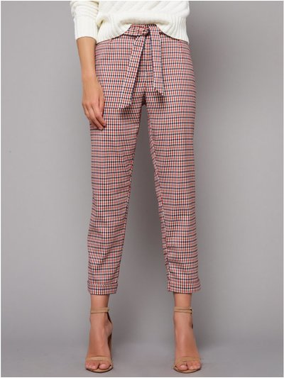 Petite check trousers