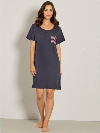 Stripe pocket nightdress