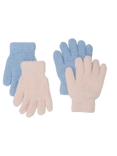 Glitter fleece gloves two pack