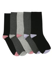 Colour block socks five pack