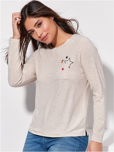 Khost Clothing star embroidered top