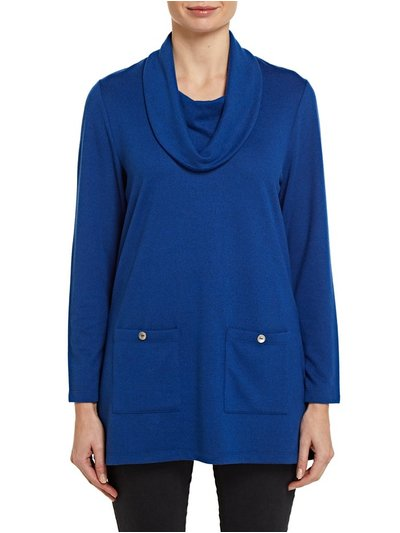 TIGI blue cowl neck tunic