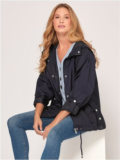 Shower resistant utility jacket