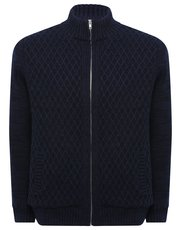 Borg lined knitted cardigan