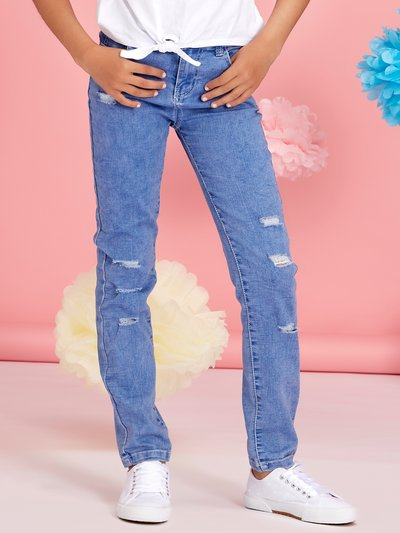 Teens' ripped skinny jeans