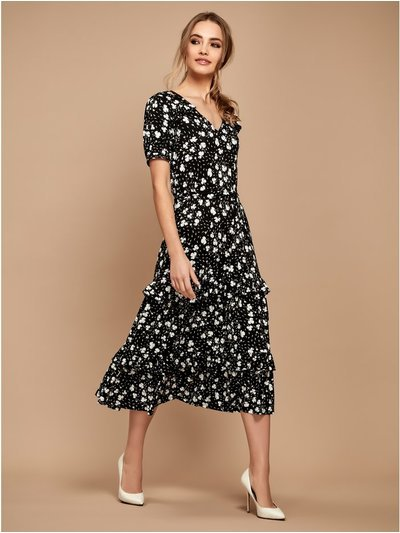 Sonder Studio floral ruffle midi dress