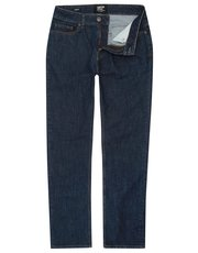Dark denim straight leg jeans