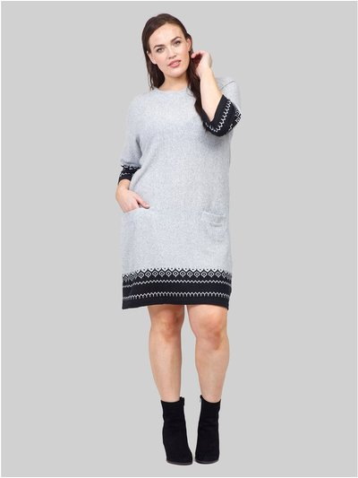 Izabel Curve aztec hem knitted dress